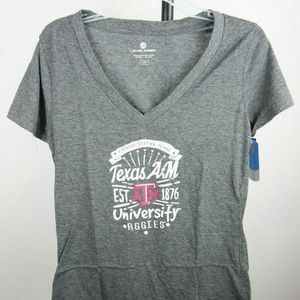 Texas A&M Aggies Women's V-Neck T-Shirt (Charcoal)